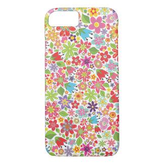 Cas lumineux de l'iPhone 7 de motif de fleurs Coque iPhone 7