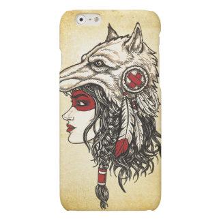 Cas mat de l'iPhone 6 de coiffe de loup