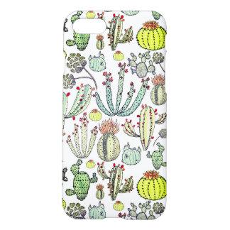 Cas mat de téléphone d'Iphone 7 de motif de cactus Coque iPhone 7