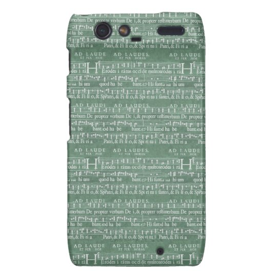 Cas médiéval de Motorola RAZR de manuscrit de musi Droid RAZR Case