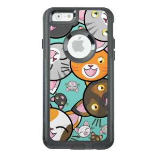 Cas mignon de l'iPhone 6S Otterbox de chats de Coque OtterBox iPhone 6/6s