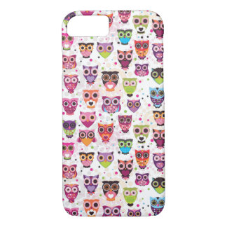 Cas mignon de l'iPhone 7 de hibou Coque iPhone 7