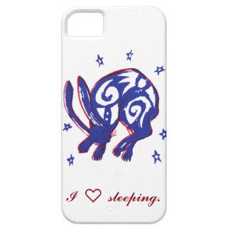 Cas mignon de téléphone de lapin de sommeil iPhone 5 case