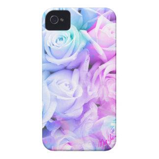 Cas mince de l'iPhone 4 floraux en pastel élégants Coque iPhone 4 Case-Mate