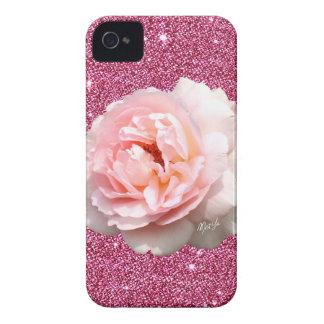Cas mince de l'iPhone 4 floraux roses de luxe de Coque iPhone 4 Case-Mate