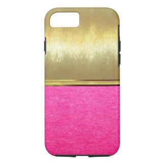 Cas mince de l'iPhone 7 roses de texture de suède Coque iPhone 7