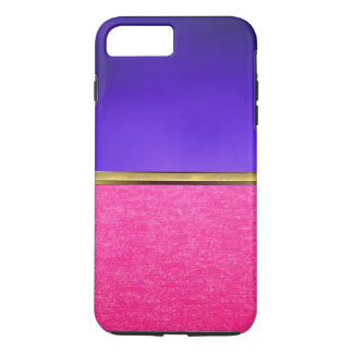 Cas mince de l'iPhone 7 roses de texture de suède Coque iPhone 7 Plus