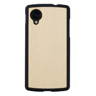 Cas mince en bois de la connexion 5 de Google Coque Carved® Slim Nexus 5 En Érable