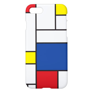 Cas minimaliste d'art moderne de Mondrian de Stijl Coque iPhone 7