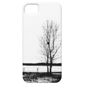 Cas mobile de l'iPhone 5/5s d'art de point d'arbre Coque Barely There iPhone 5