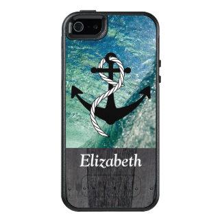 Cas nautique rustique de téléphone d'été d'océan coque OtterBox iPhone 5, 5s et SE