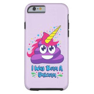 Cas né de téléphone d'Emoji de dunette de licorne Coque iPhone 6 Tough