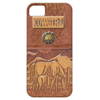 """Cas occidental d'IPhone 5 de cow-girl de """"cheval e Coque Case-Mate iPhone 5"""