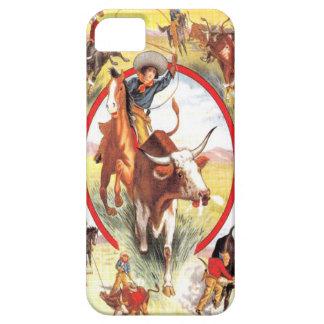 "Cas occidental d'IPhone 5 ""de cow-girl vintage"" Coque iPhone 5"