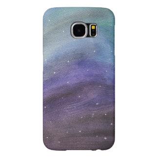 cas peint de téléphone de galaxie