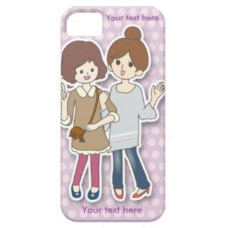 Cas personnalisable de téléphone avec deux filles coque iPhone 5 Case-Mate