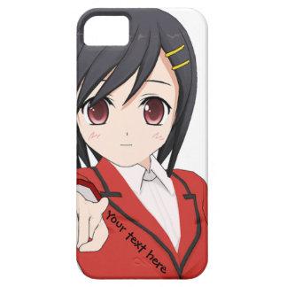 Cas personnalisable de téléphone de fille d'Anime iPhone 5 Case