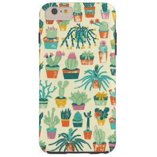 Cas plus de l'iPhone 6 colorés de motif de fleur Coque Tough iPhone 6 Plus