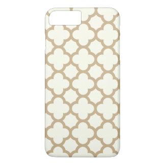 Cas plus de l'iPhone 6 de Quatrefoil en sable Coque iPhone 7 Plus