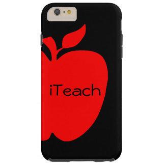 Cas plus de l'iPhone 6 du professeur rouge et noir Coque iPhone 6 Plus Tough