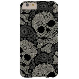 Cas plus de l'iPhone 6 vintages de motif de crâne Coque iPhone 6 Plus Barely There