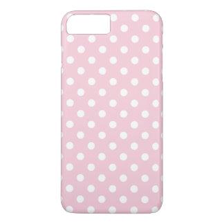 Cas plus de l'iPhone 7 de point de polka de roses Coque iPhone 7 Plus