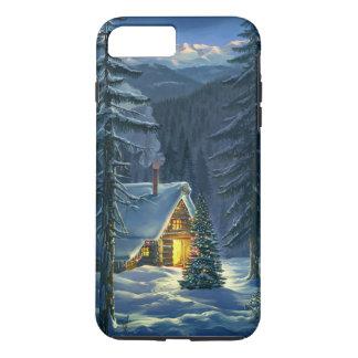 Cas plus de l'iPhone 7 durs de paysage de neige de Coque iPhone 7 Plus