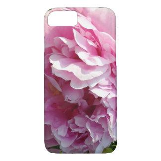 Cas plus de l'iPhone 7 roses de pivoine Coque iPhone 7