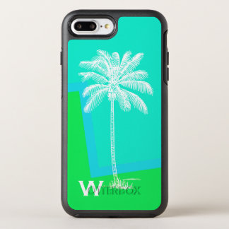 Cas plus de l'iPhone 7 tropicaux d'Otterbox de Coque OtterBox Symmetry iPhone 8 Plus/7 Plus