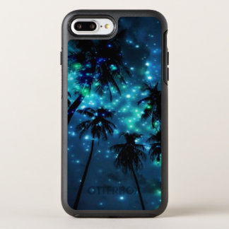 Cas plus de l'iPhone 7 tropicaux turquoises de Coque OtterBox Symmetry iPhone 8 Plus/7 Plus