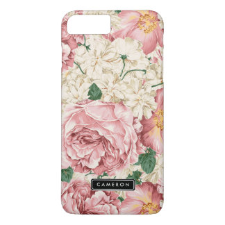 Cas plus de l'iPhone vintage 7 de pivoines et Coque iPhone 7 Plus