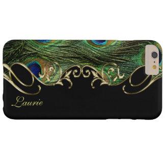 Cas plus de monogramme de l'iPhone 6 d'or de plume Coque iPhone 6 Plus Barely There
