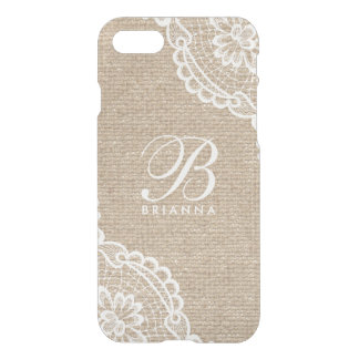 Cas rare de l'iPhone 7 de monogramme de toile de Coque iPhone 7
