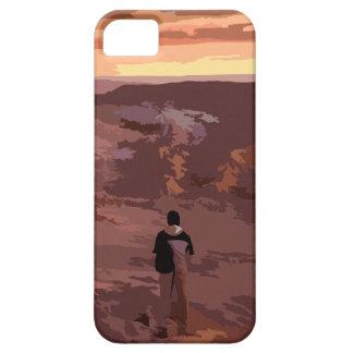 Cas rocheux de paysage d'homme seul coque iPhone 5 Case-Mate