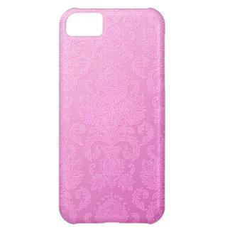 Cas rose de l'iPhone 5 de damassé Coques Pour iPhone 5C