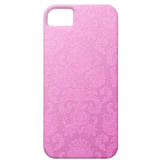 Cas rose de l'iPhone 5 de damassé