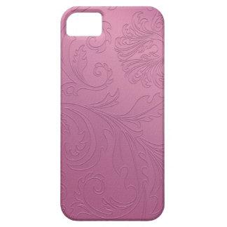 Cas rose de l'iPhone 5 de feuille florale