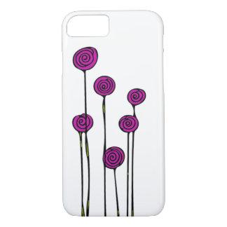 Cas rose de téléphone de fleur coque iPhone 7