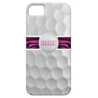 Cas rose d'Iphone 5 de boule de golf d'impression iPhone 5 Case