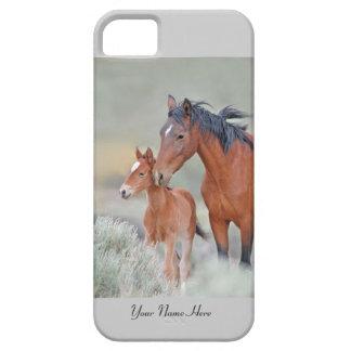 Cas sauvage des chevaux iPhone5 de mustang Étuis iPhone 5