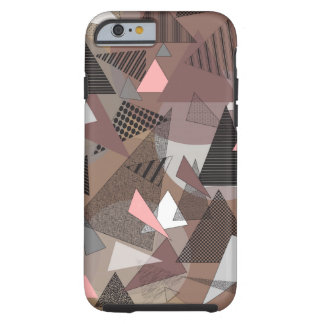 """Cas """"sierra de téléphone de triangles """" coque tough iPhone 6"""