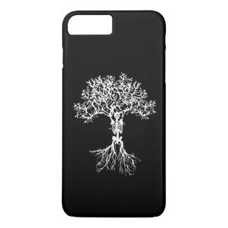 Cas squelettique de téléphone d'impression d'arbre coque iPhone 7 plus