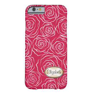 Cas stylisé de l'iPhone 6 du motif | de roseraie Coque iPhone 6 Barely There