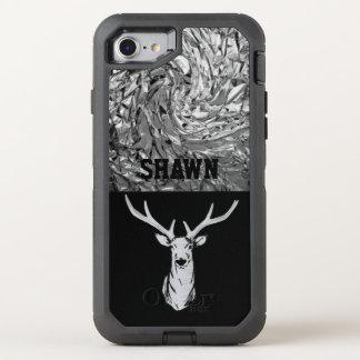 Cas texturisé argenté de téléphone de chasse de coque otterbox defender pour iPhone 7