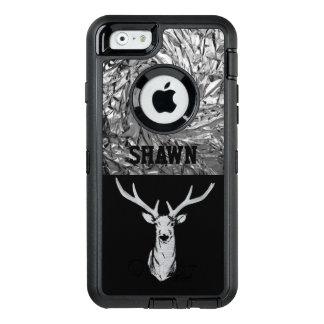 Cas texturisé argenté de téléphone de chasse de coque OtterBox iPhone 6/6s
