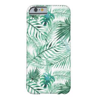 Cas tropical de l'iPhone 6 de motif de feuille de Coque Barely There iPhone 6