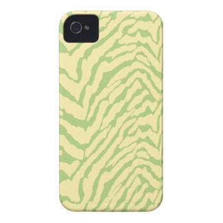 Cas vert clair de l iPhone 4 de motif de peau de z Coques iPhone 4 Case-Mate