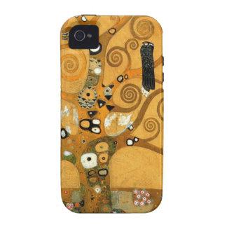 """Cas vintage de l'iPhone 4 de vie de Klimt """"arbre"""" Étui iPhone 4"""