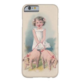 Cas vintage mignon de l'iPhone 6 - jeune Gril pi d