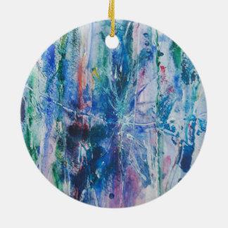 Cascade abstraite ornement rond en céramique